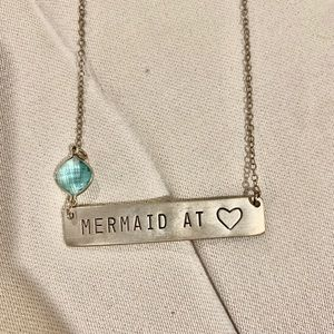 All Washed Up Mermaid at Heart Necklace